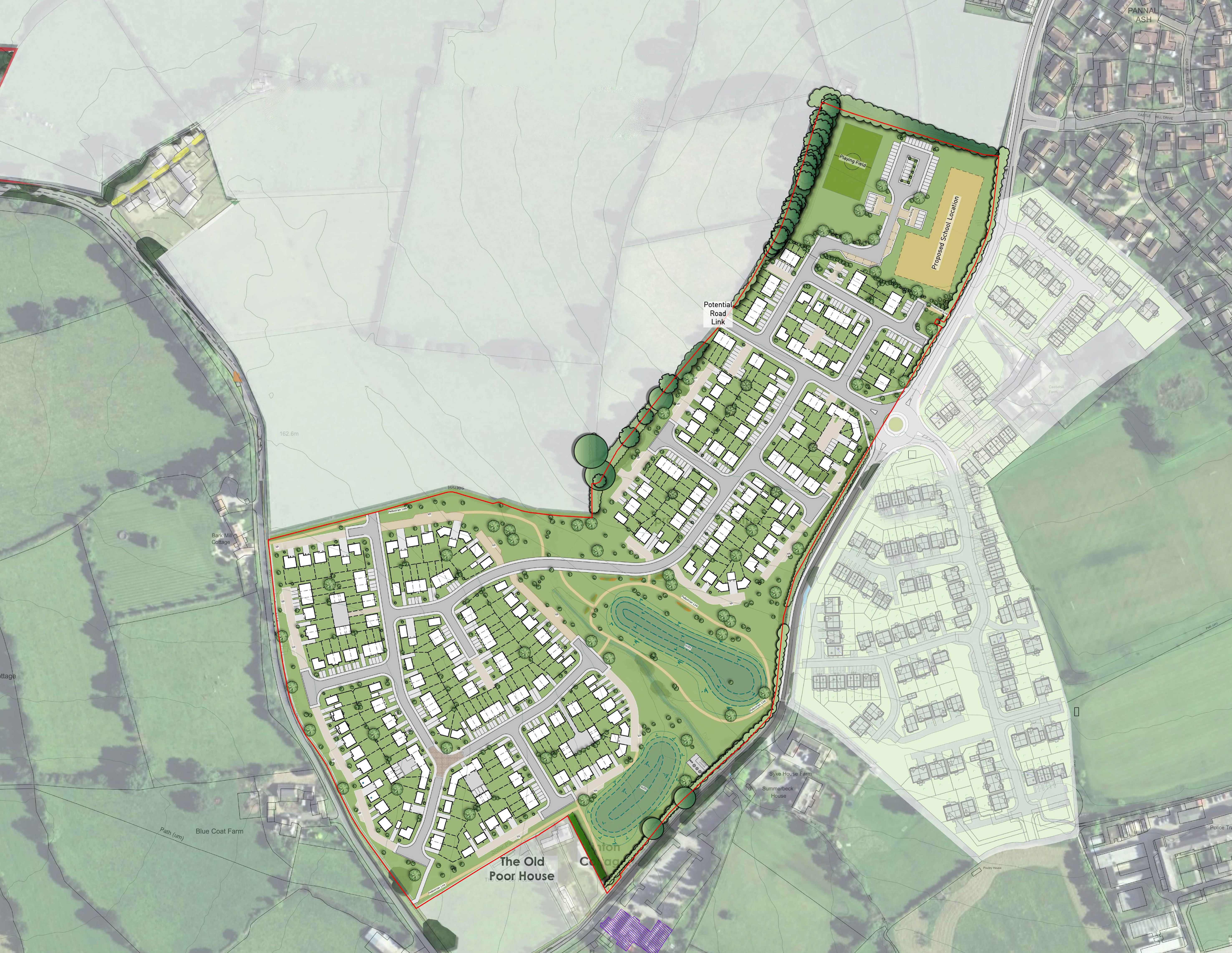 Castle Hill West, indiactaive masterplan, May 2020