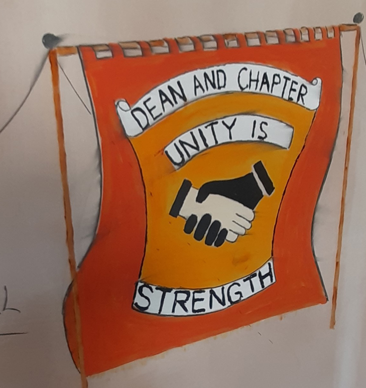Dean and Chapter Pit banner reimagined by John Cornish (son of Norman Cornish)