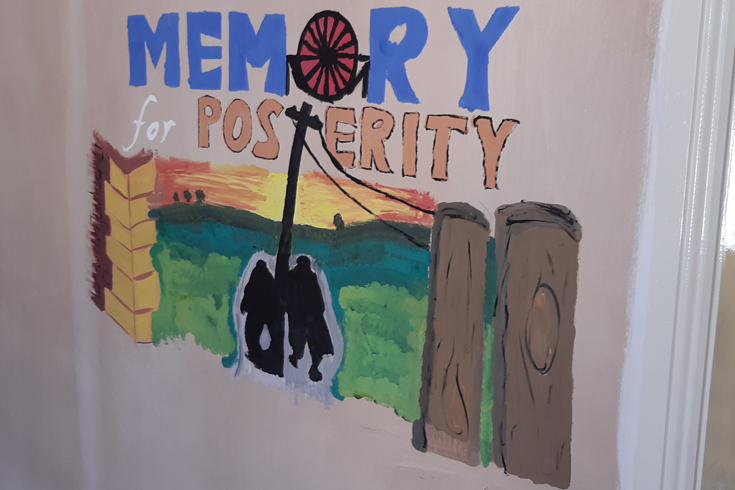 Pictured above: Painting by Gracie Flynn of Enter CIC inspired by one of Norman Cornish's artworks