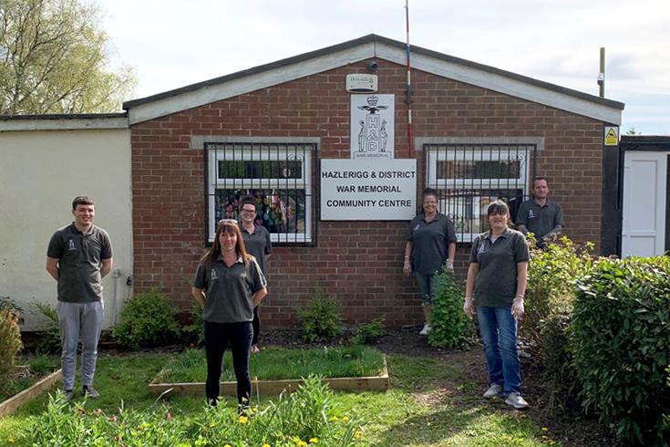 Pictured above: Volunteers in Hazlerigg outside the Hazlerigg & District War Memorial Community Centre