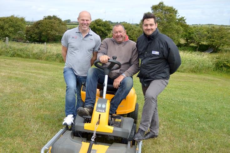 Overton Parish Council nets tidy mower grant from Heysham