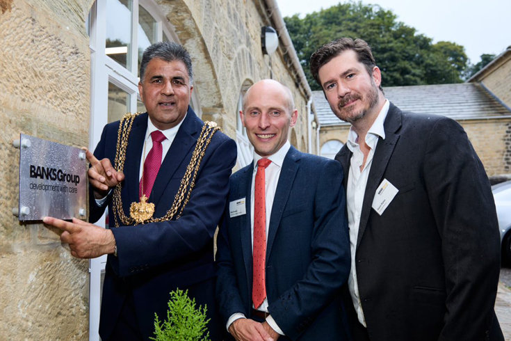 Lord Mayor of Leeds cuts the ribbon at official opening for Banks Group's new Harewood Yard offices